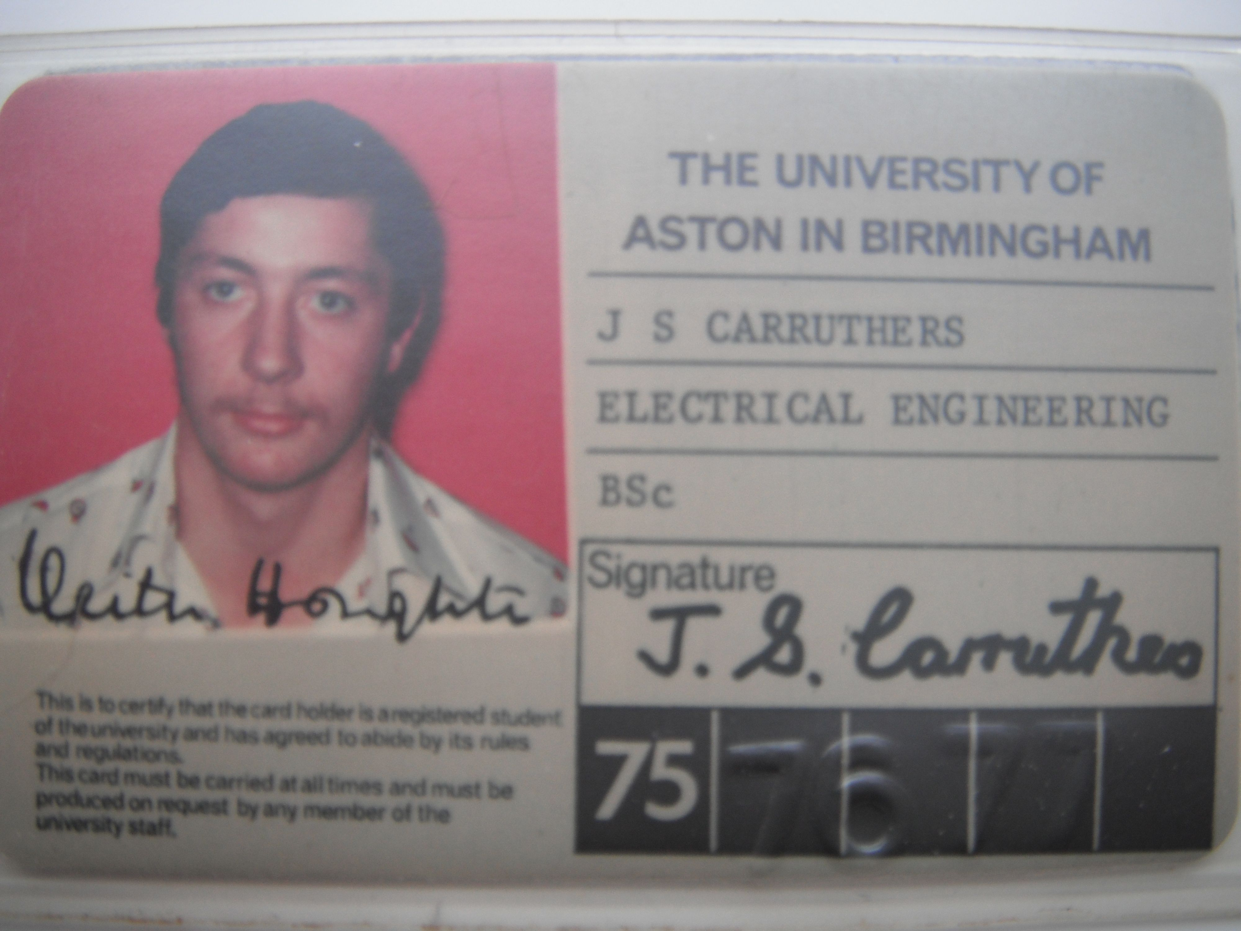aston uni student id card 19751978  aston university