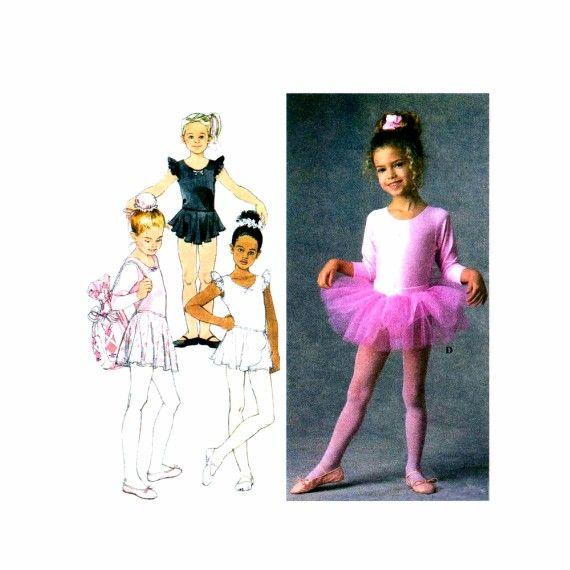 Girls Leotards Skirts Tutu Bag Hair Accessories Simplicity 7351 ...