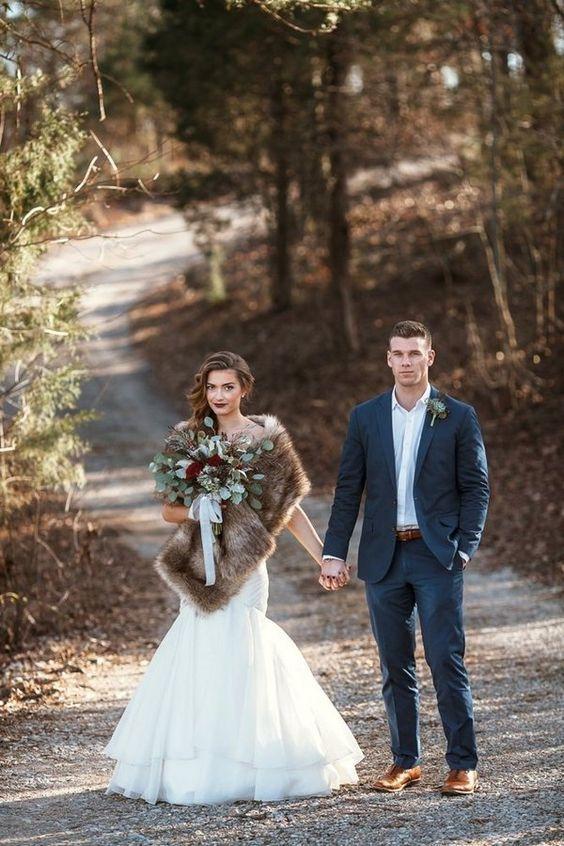 Wald Winter Hochzeit Inspiration   – Christmas wedding ideas