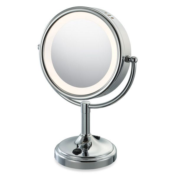 Light Up Mirror For My Vanity Problem Solved Can Be Found At Target And Or B Makeup Mirror With Lights Lighted Vanity Mirror Lighted Magnifying Makeup Mirror