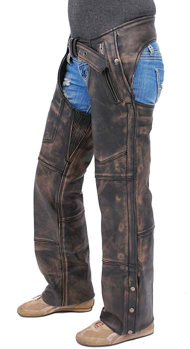 Vance Leather Basic Deep Pocket Leather Chaps