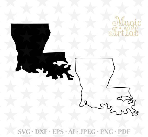 Louisiana state svg, Louisiana silhouette, Louisiana ...