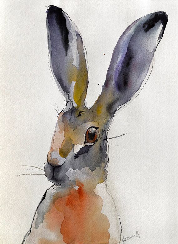 Hey, I found this really awesome Etsy listing at https://www.etsy.com/listing/220879903/hare-original-abstract-colorful
