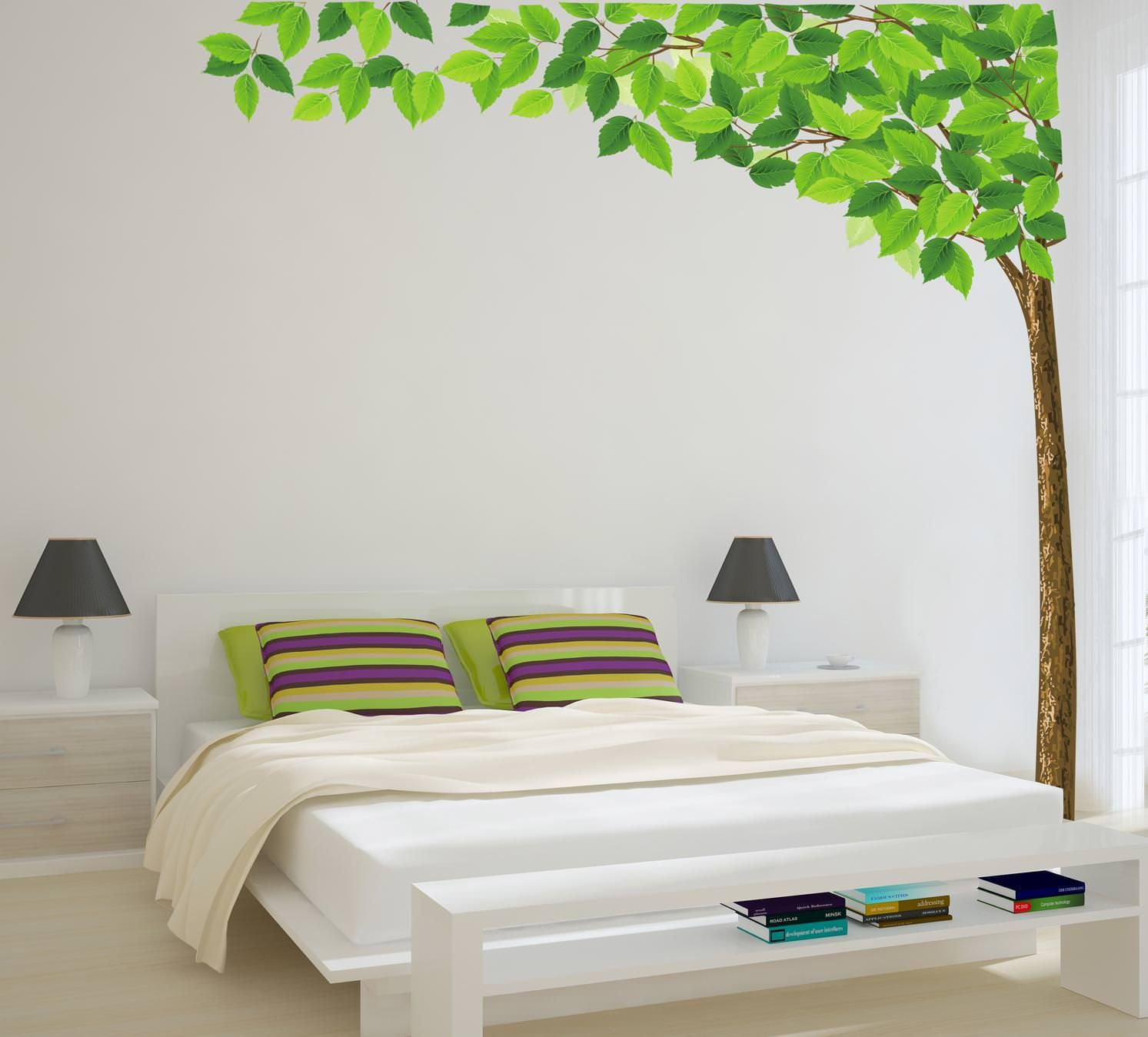 Lovely How Make Tree Wall Sticker Decal Decals Removable Scenery Stickers Home  Decor Alex Nld