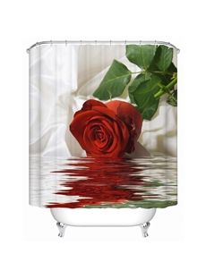 New Arrival Rose Image Shower Curtain