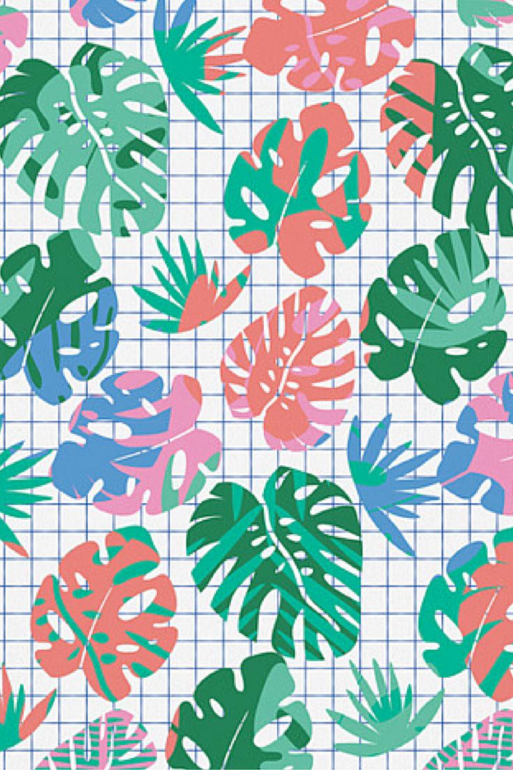 Zoe Wodarz Tropical Grid Art Print | DENY Designs Home Accessories