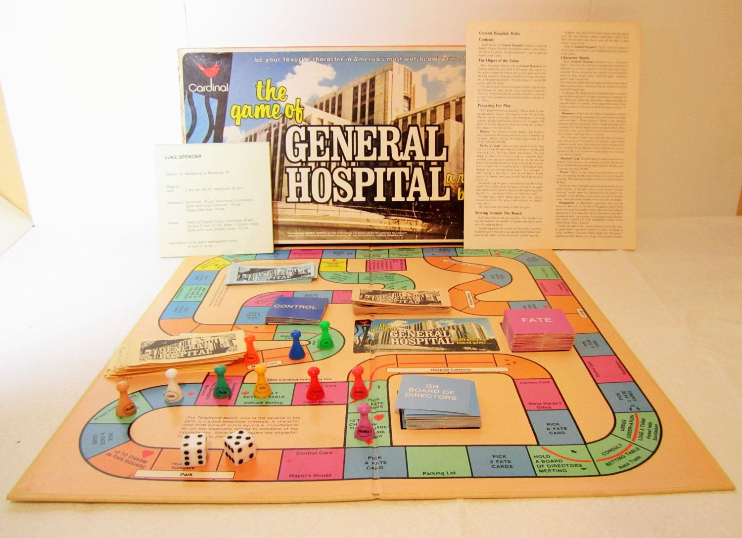 General Hospital Board Game, Soap Opera, Role Playing Game