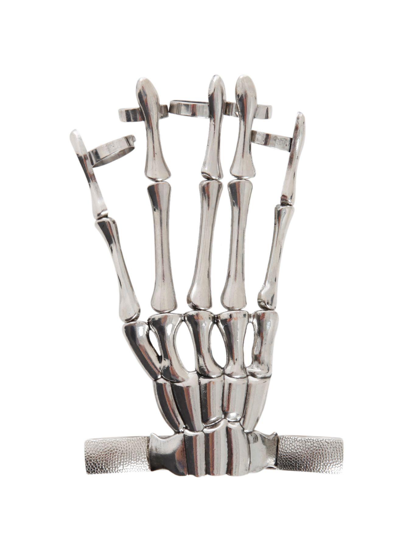Skeleton Hand Ring Bracelet Pin of the Day Hand