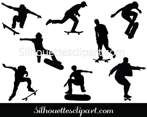 Skateboard Silhouette Vector Graphics Download Free ...