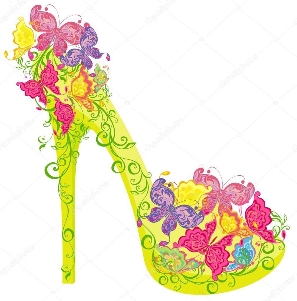 Descargar Adornado Alto De Un Los Y Tacón Zapatos Con Flores shrdtCQx