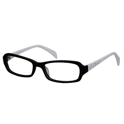 68e773f56f8 Ebe Bifocal Unisex Black White Rectangle Full Rim Regular Hinge Reading  Glasses