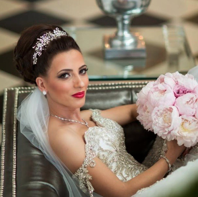 That peony bouquet is to die for and so is Katrina, who is so elegant in her gown and delicate bridal headpiece. Photo by AlbaPro