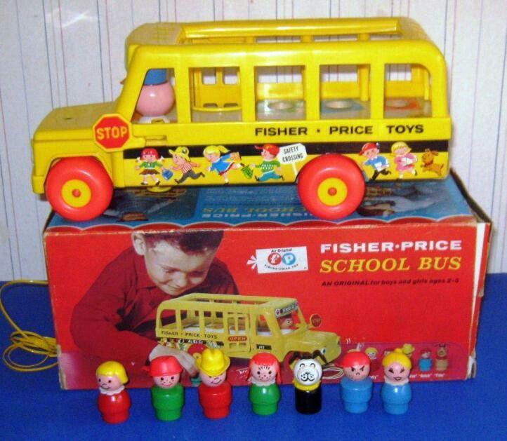 80's 90's vintage toys fisher price school bus