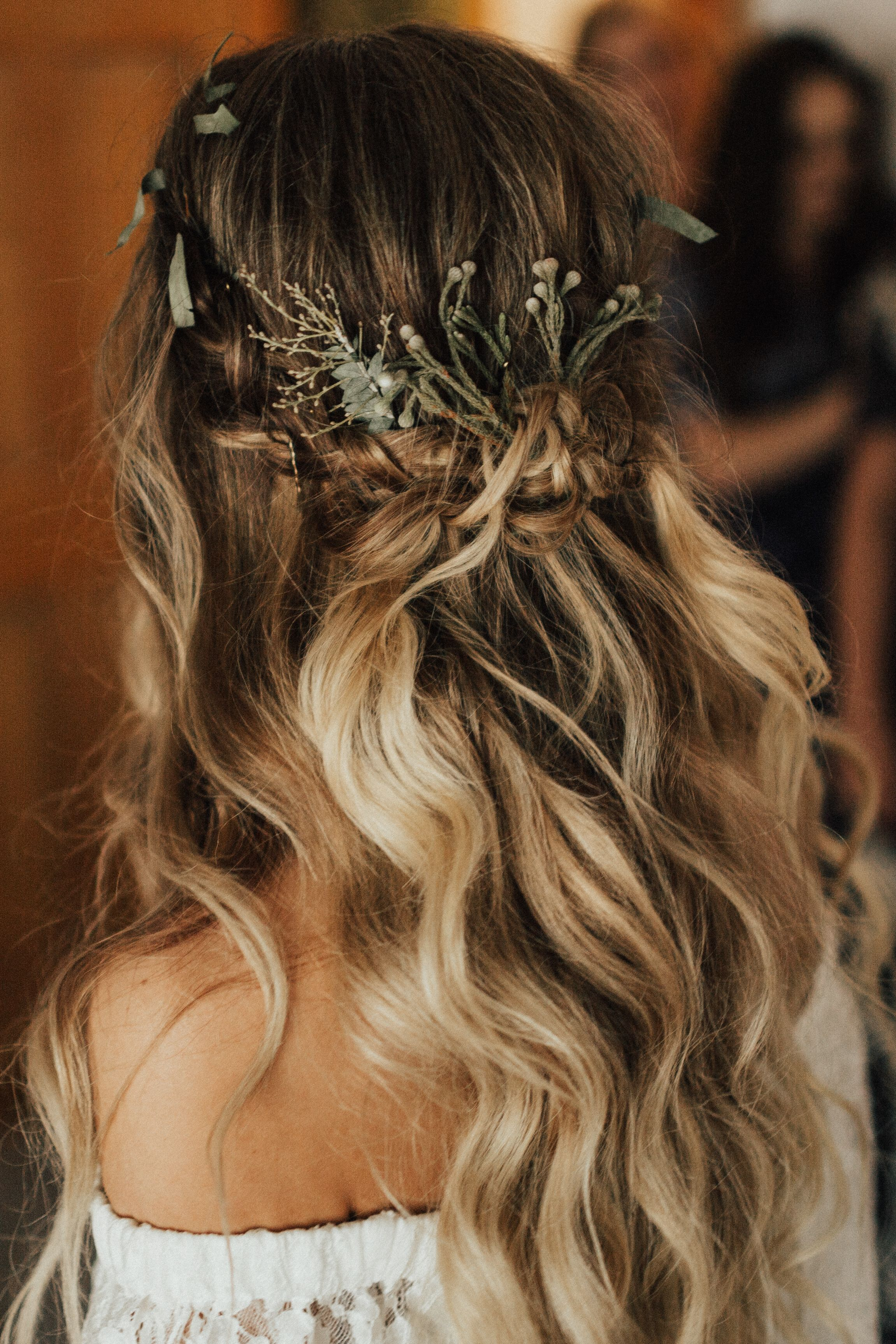 boho + rustic texas wedding | the forge | bridal hair +