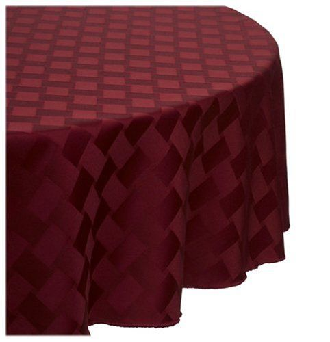 Reflections 70 Inch Round Tablecloth, Merlot Bardwil,http://www.