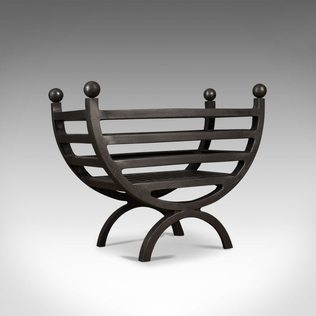 Contemporary Fire Basket English Fireplace Accessory