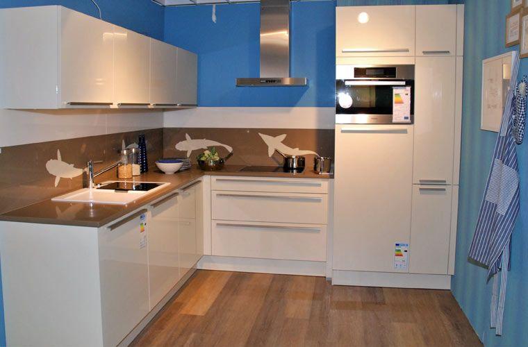 Abverkaufsküche Elea #sale #küchen -quarzarbeitsplatten Küchen - küche l form mit insel