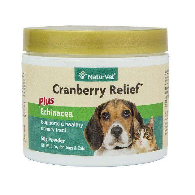 Naturvet Cranberry Relief Urinary Support Dog Cat Powder Supplement 50g Container 90 Scoops Chewy Com With Images Cat Remedies