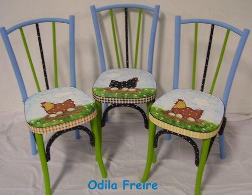 cadeiras galinhas