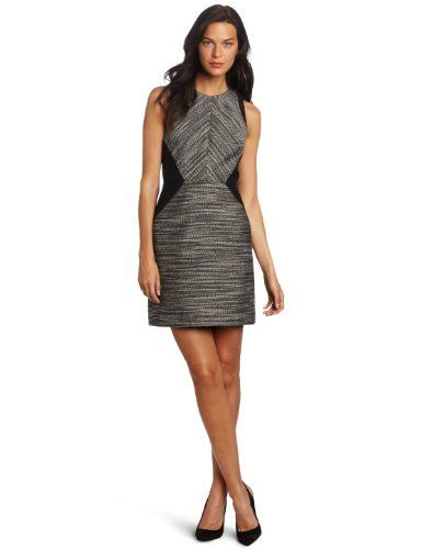 a11c2c22a53 Kenneth Cole Women s Petite Mixed Media Flared Dress