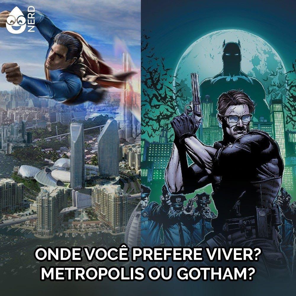 #TimelineAcessivel Onde você prefere viver? Metropolis ou Gotham? - imagem ilustrada das duas cidades.   TAGS: #coxinhanerd #nerd #geek #geekstuff #geekart #nerd #nerdquote #geekquote #curiosidadesnerds #curiosidadesgeeks #coxinhanerd #coxinhahq #hq #quadrinhos #comics #comicbooks #dccomics #metropolis #gotham #batman #superman