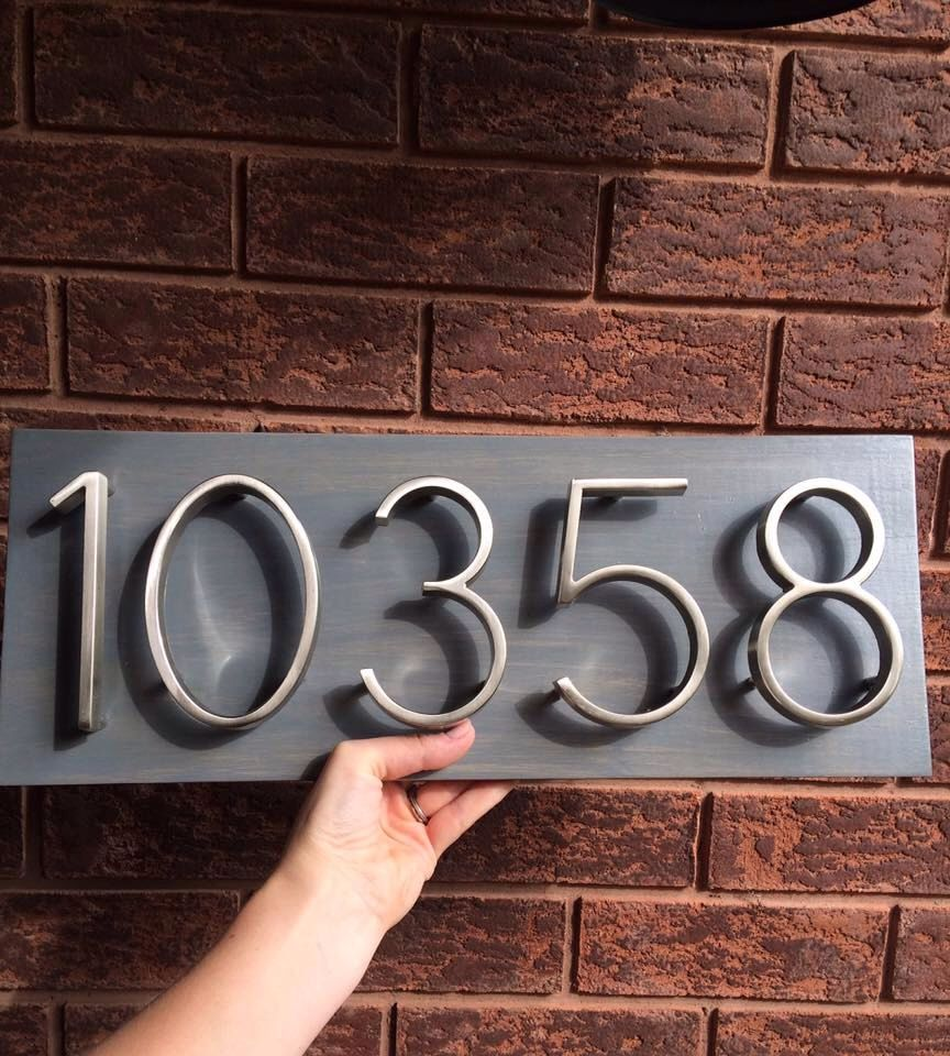 House number plaque house number address sign address plaque house number plaque house number address sign address plaque metal house numbers wedding gift present outdoor sign dailygadgetfo Images