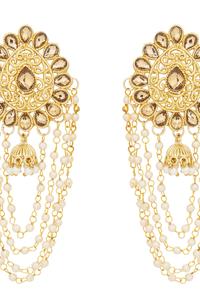 91e963d84 Craftsvilla Gold Plated Alloy Metal American Diamond Ethnic Jhumka Earrings
