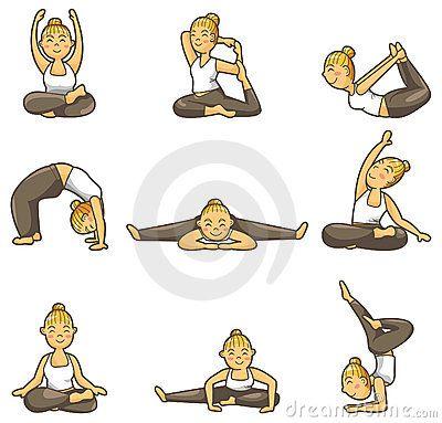 pose cartooni love these poses my faves  yoga cartoon