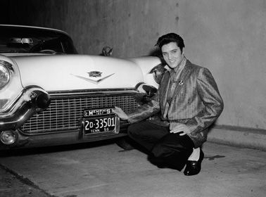 Elvis and his car