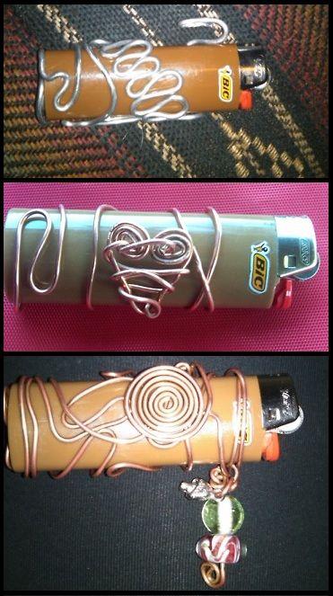Wired wrapped lighters Diy decorate lighter Diy holder