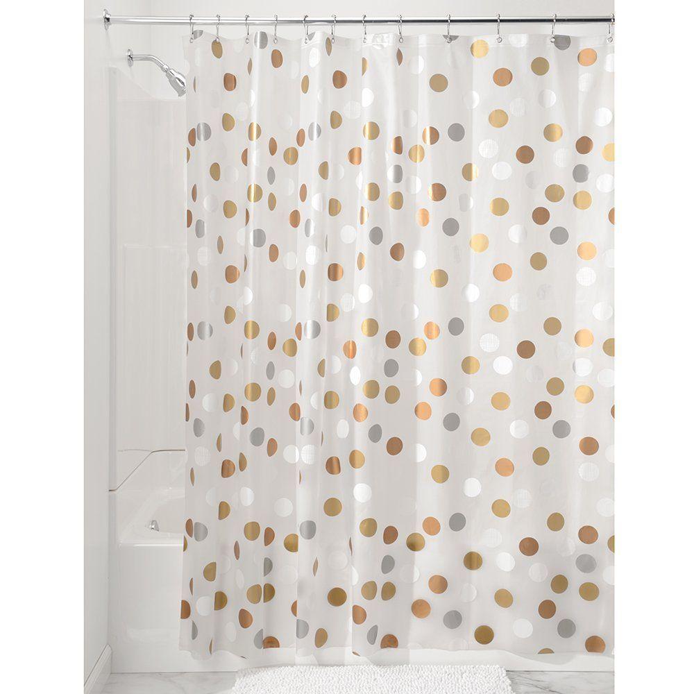Interdesign Gilly Dot Pvc Free Peva Fabric Shower Curtain 72 X