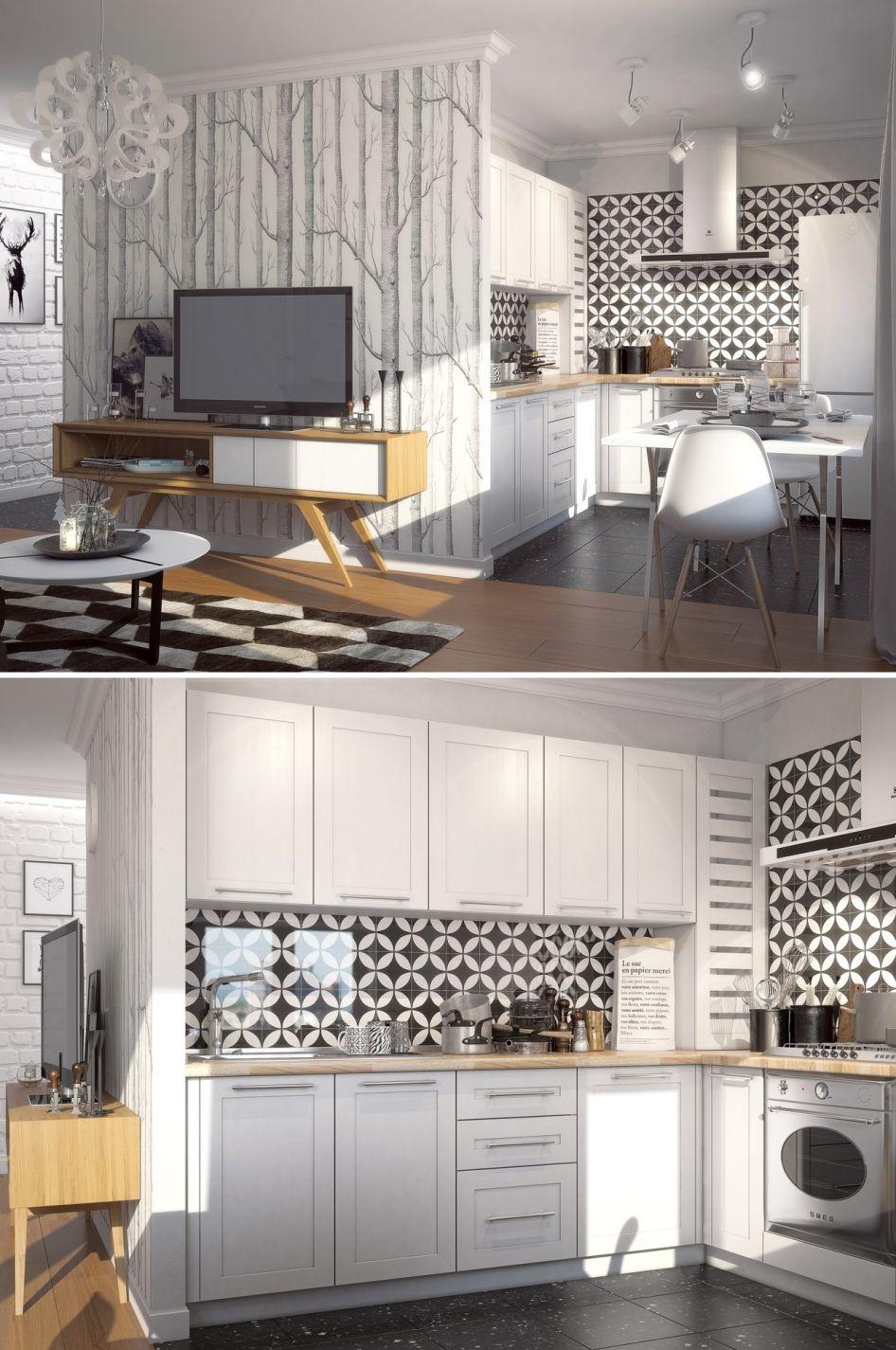 Современный дизайн интерьера маленькой квартиры Дизайн