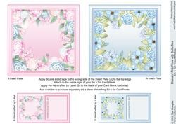 Gift Box Blue Poppies with Bow Decoupage - CUP720478_422 | Craftsuprint