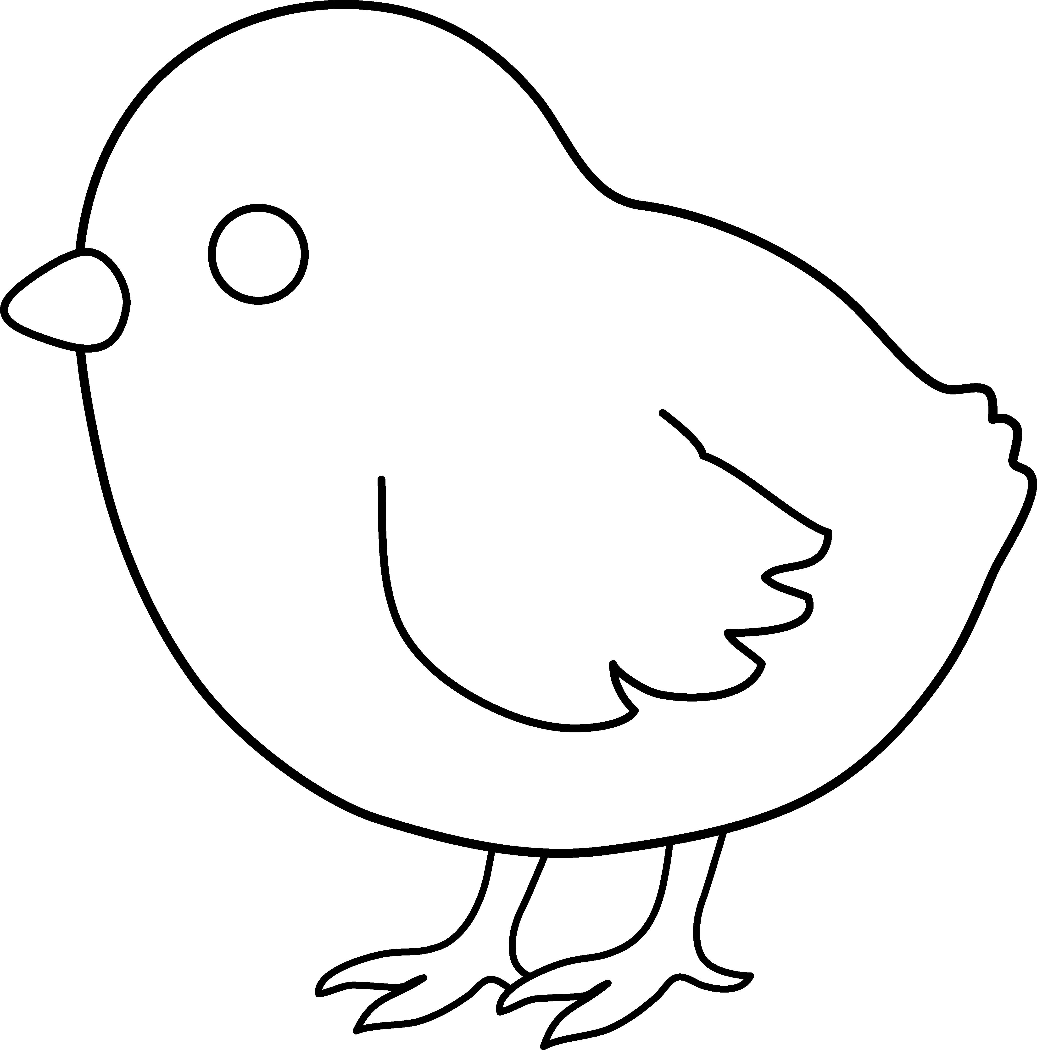 Baby Chick Line Art