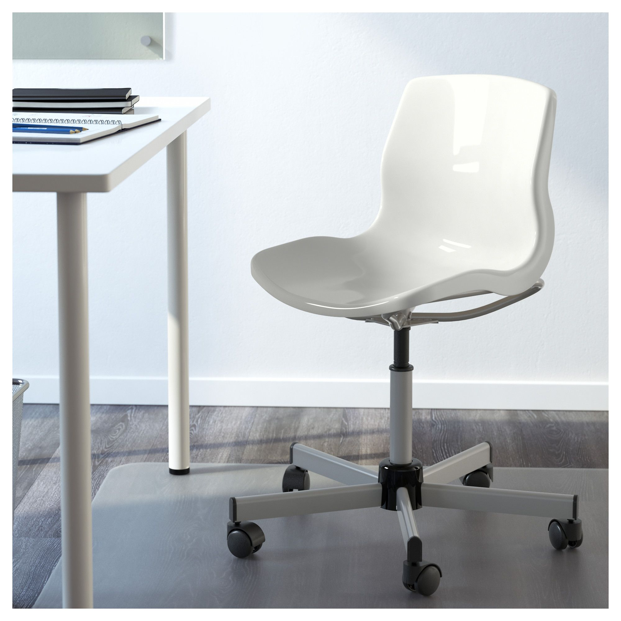 Snille Swivel Chair White Swivel Chair Desk Chair Comfy
