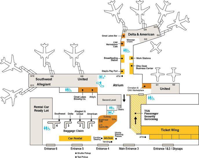 Dallas Love Field Airport Map. Dallas Love Field Airport Map ...