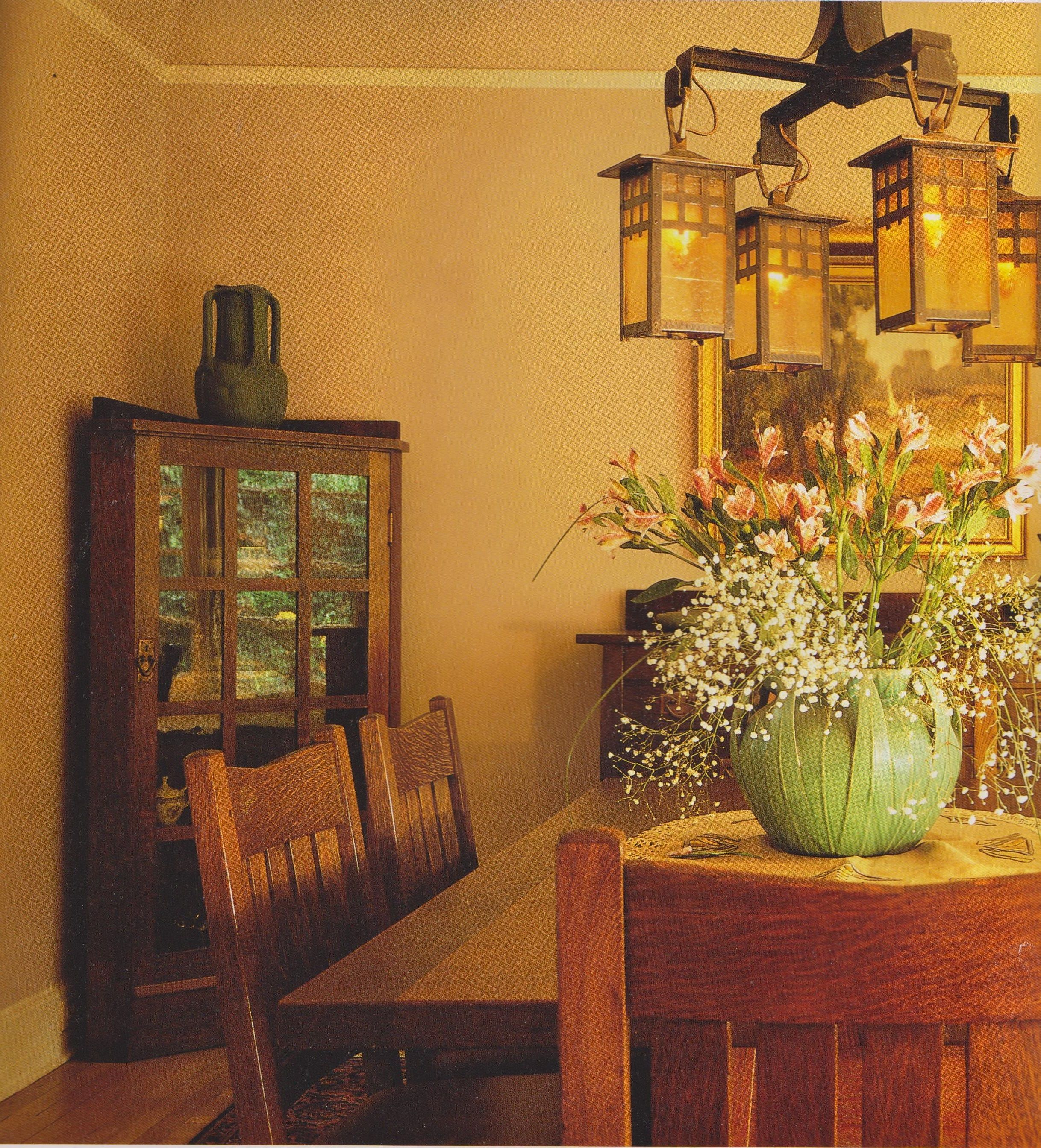 Arts crafts craftsman bungalow dining room - Arts and crafts bungalow interiors ...