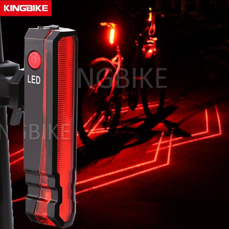 Very Worth Kingbike Usb Rechargeable Bicycle Rear Light Cycling