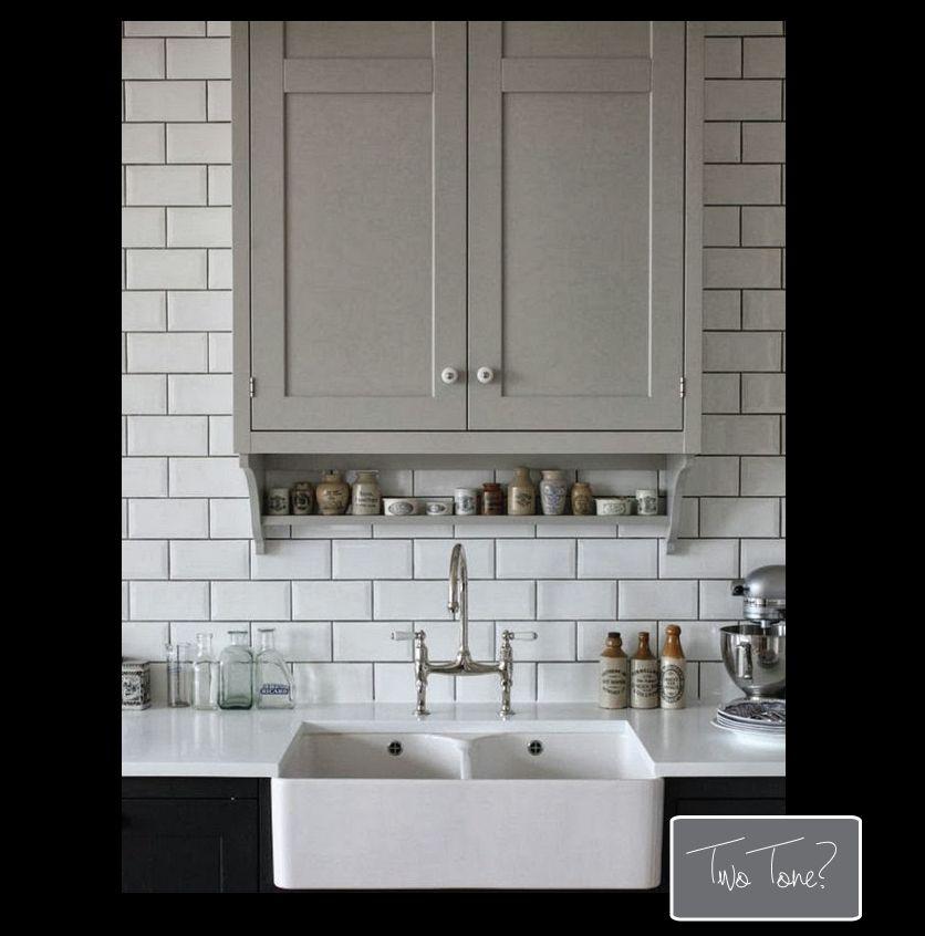 Small Kitchen -- Black White Grey