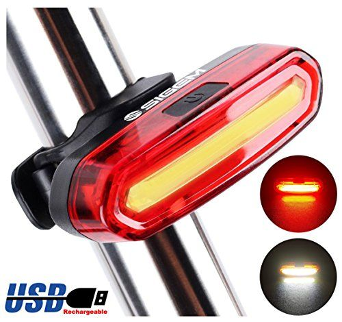 Sigem Bike Tail Light Usb Rechargeable Bicycle Rear Taillight