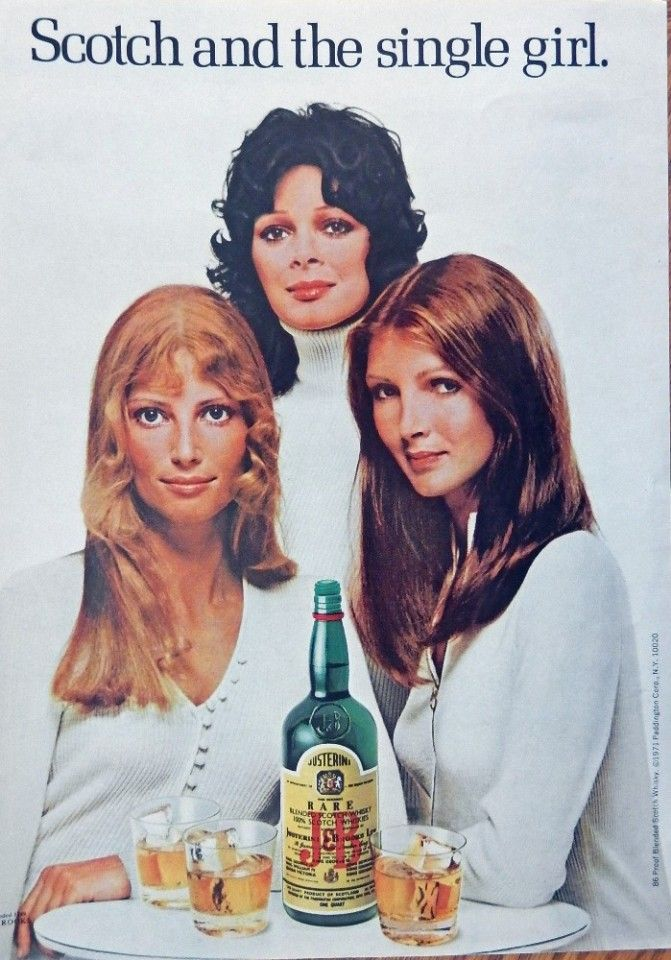 J B Whiskey 70 S Print Ad Color Illustration Scotch And The Single
