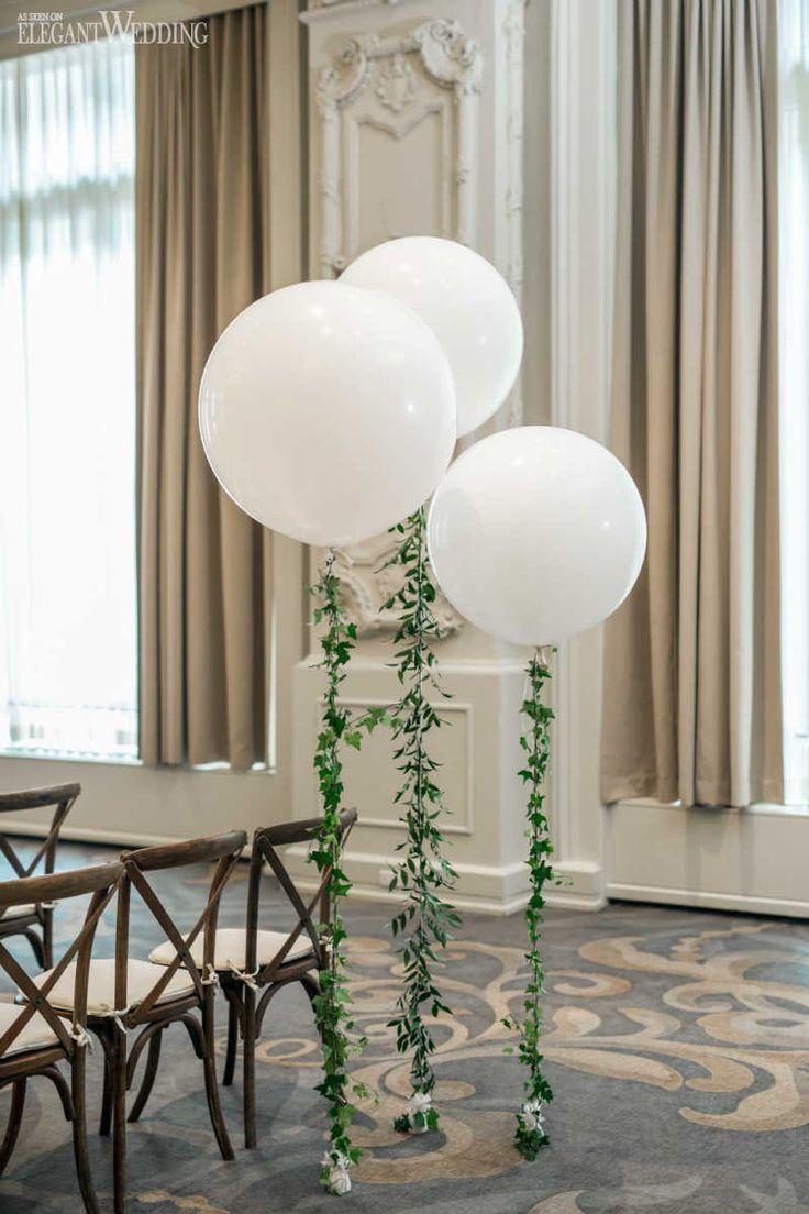 Whimsical Greenery Wedding with Balloons | ElegantWedding.ca