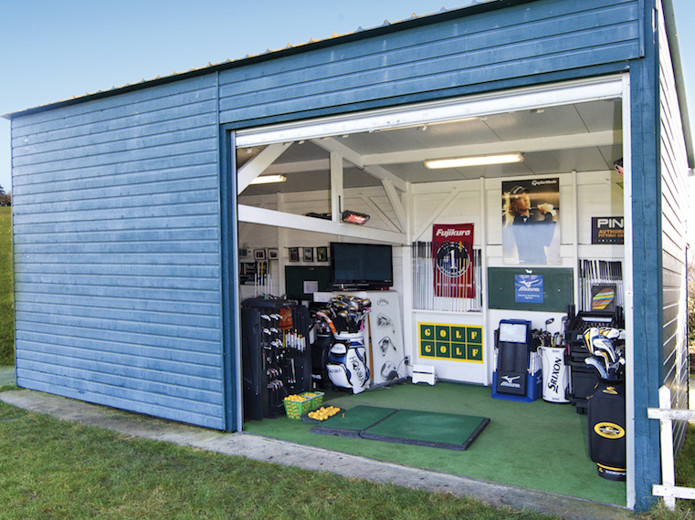 A Glimpse Into A Golf Shed Golf Room Backyard Makeover Dream Backyard