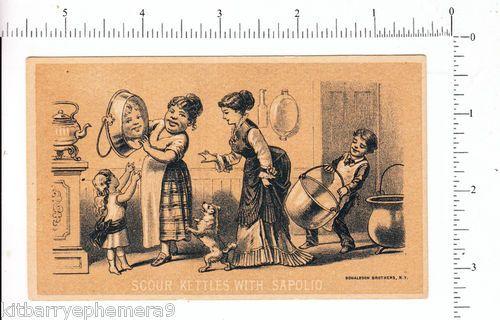 Enoch Morgan Sapolio Soap Trade Card Kitchen Scene