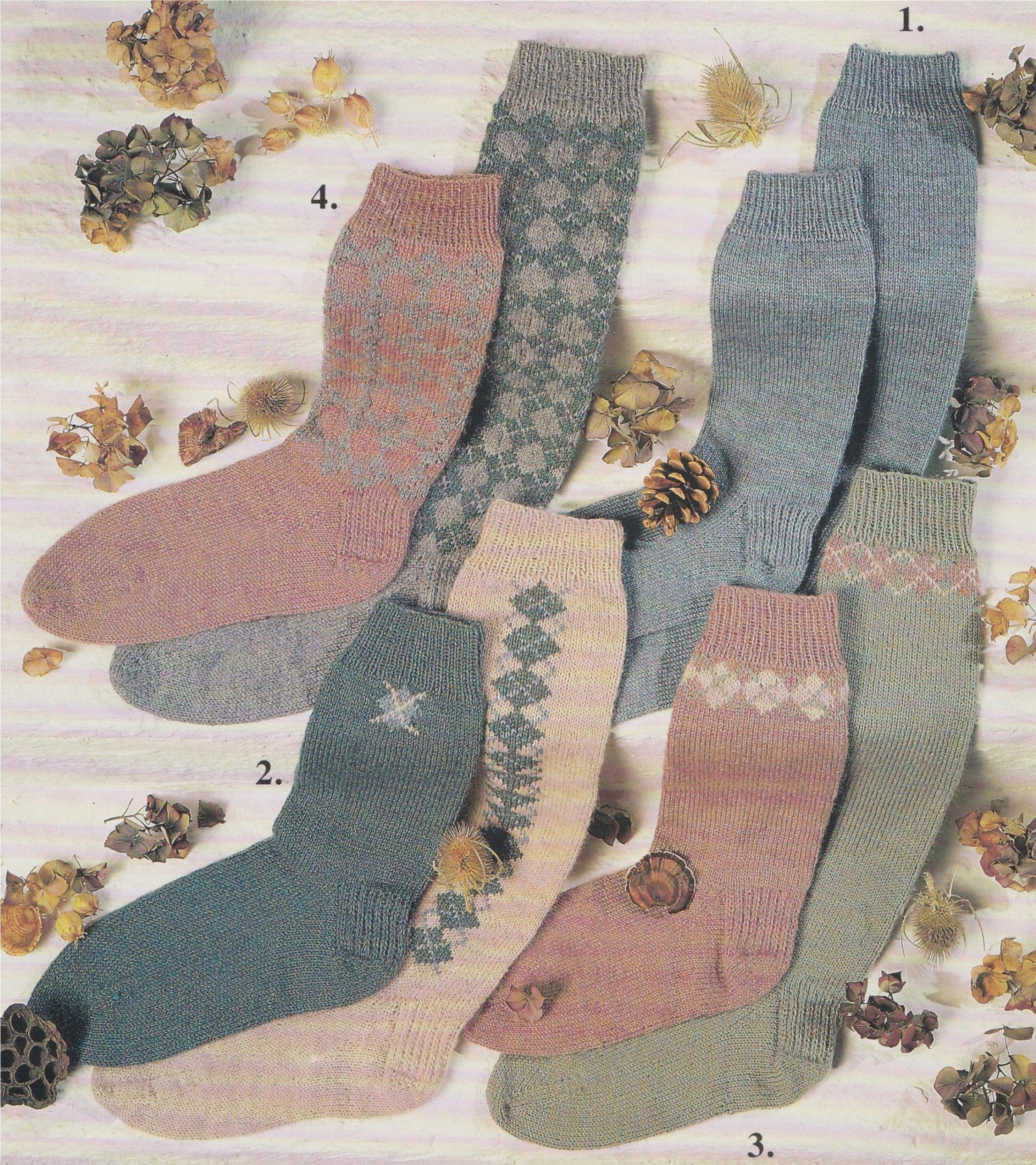 Socks Knitting Pattern PDF, Fair Isle Argyle, Argyll ...