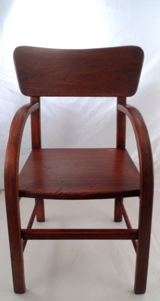 1950s Mid Century Modern Bentwood Bent Wood Child's Toddler Wooden Side Chair #2