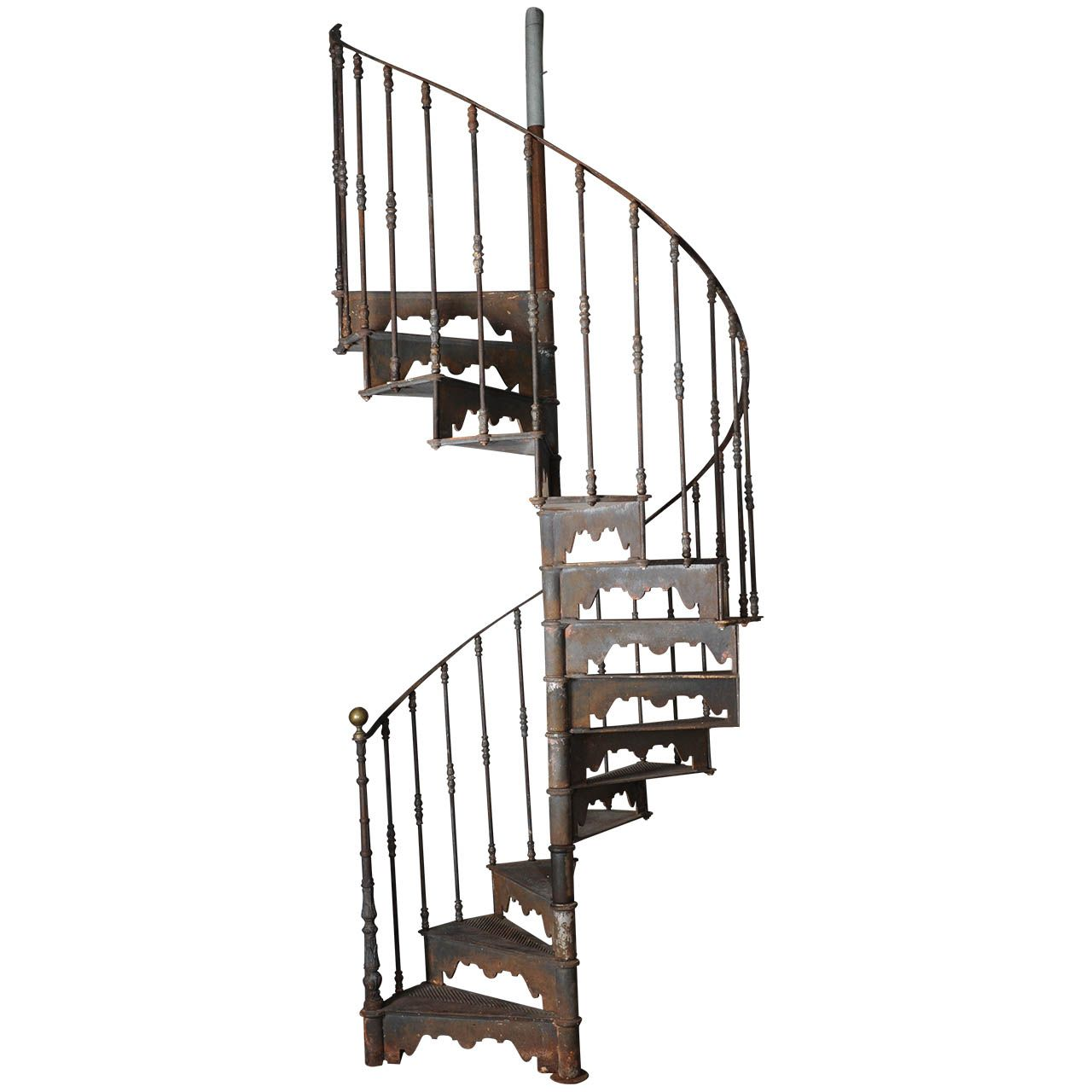 Best An Antique Industrial Cast Iron Spiral Staircase From A 400 x 300