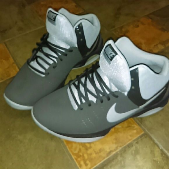 Nike Barely worn good as new. Men Nike's gray and dark gray Air visi pro six comes with box Nike Shoes Sneakers