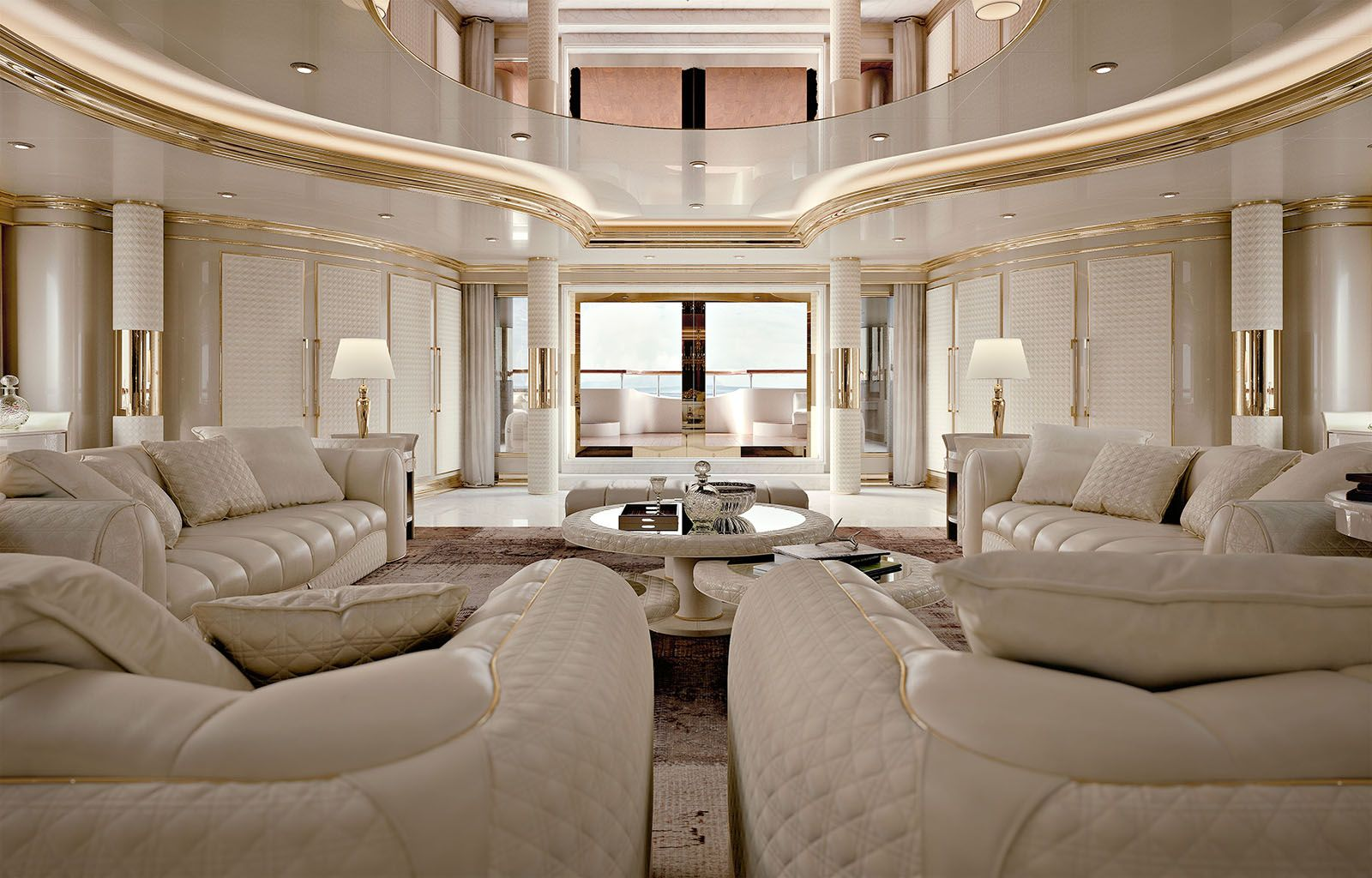 Caractere Collection www.turri.it Luxury yacht living room furniture