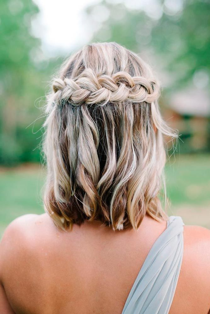 35 Cute Braided Hairstyles For Short Hair Lovehairstyles Com Short Hair Styles Braids For Short Hair Medium Hair Styles